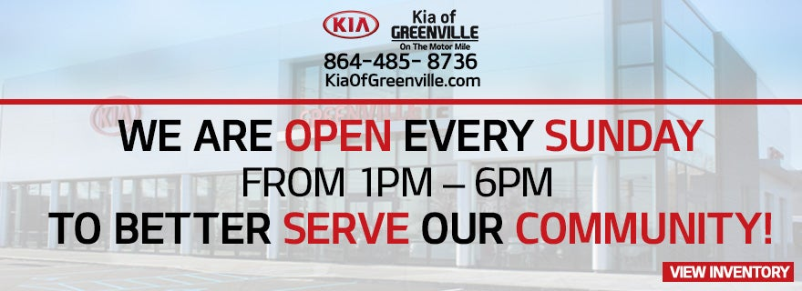 Car Dealerships In Anderson Sc >> Kia Greenville | Cars For Sale Greer SC | New Kia Cars
